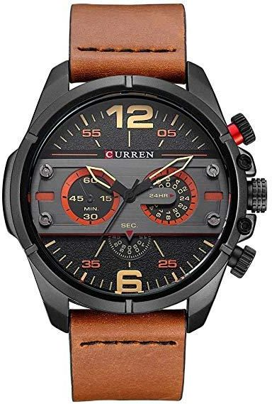 a3e65ad99 Curren Casual Watch For Men Analog Leather - 31