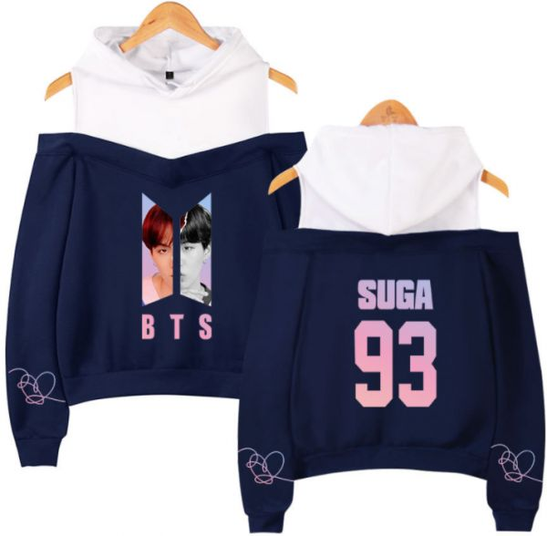 56a510159686 BTS cotton soft long sleeve casual strapless hoodie and sweatshirt for lady