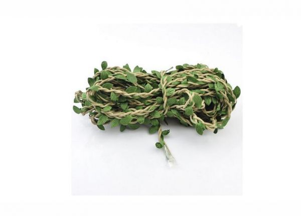 10m Handmade Garland Rattan Artificial Leaf Vine Plants Decoration DIY Arts and Crafts Foliage Green Leaves Rattan Wreath Decorative Home Wall Garden Party ...