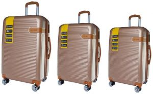 47c593edf0 Saw   See Trolley Travel Luggage Bags set 3Pcs - Gold
