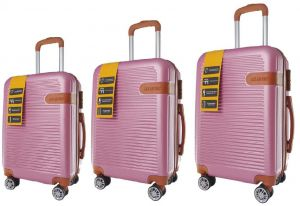 ac9e58d6583d Saw   See Travel Trolley Luggage Bags Set 3 pcs - Rose Pink