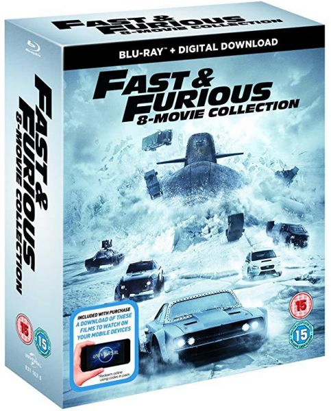 074615f23054ef Fast and furious ALL 1-8 movies Blu-ray  English and Arabic