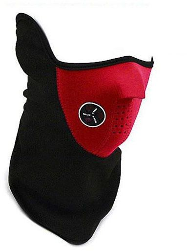 Outdoor Masks Dust Neck Warm Half Face Mask Winter Sport Mask Windproof Bike Bicycle Cycling Mask Red