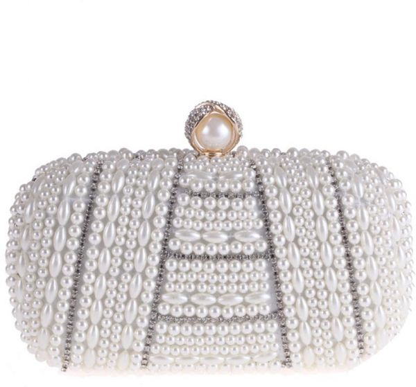 063bed090d9 Women Dinner Bag Handmade Pearl Rhinestone Clutch Girl Gift Party Purse For  Bridal