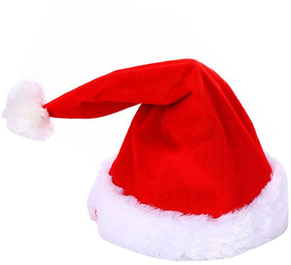 d35e0b424ba8a Electric Musical Christmas Hat Magic Dancing Singing Plush Xmas adjustable Santa  Claus Hats For adult Children