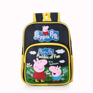 91dd098d8e7e Peppa Pig pattern Kids School backpack Kawaii Kindergarten Bag Backpack for  Boys and Girls