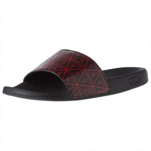 44387412318d Guess Idal Flat Sandals for Men - Black Red