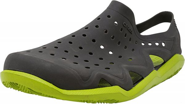 5a4dc3bba Crocs Men s Swiftwater Wave Graphite   Volt Green Ankle-High Rubber Sandal  - 4M