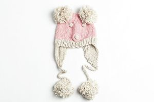 3802eef09f5 Pink unisex mouse animal bobble hat beanie for kids or adults