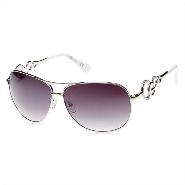 7c8476a321 G by Guess Aviator Sunglasses for Women - Grey lens