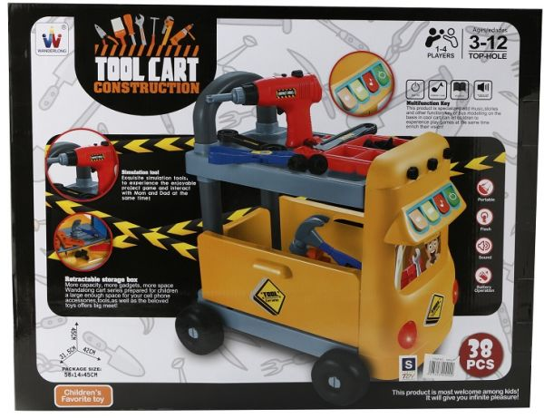 Tool Cart Construction Model Building Tools for Boys Multi