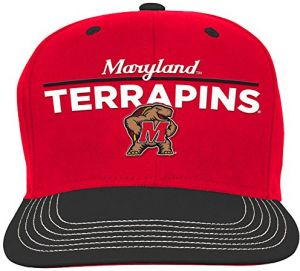 online store 3f6bc 21aa3 NCAA Maryland Terrapins Youth Boys Retro Bar Script Flatbrim Snapback Hat,  Red, Youth One Size