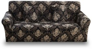Stretch Sofa Slipcover 1-Piece Polyester Spandex Fabric Couch Cover Chair  Loveseat Furniture Protector Covers for 1/2/3/4 Seat Sofa s (Sofa , Printed)