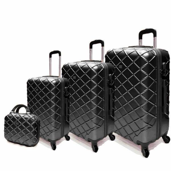 Passenger trolley hard luggage bag set Black  98efa503eac37