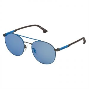 7fa600a1db1a7 Police Round Sunglasses for Men - Smoke Mirror Blue Lens