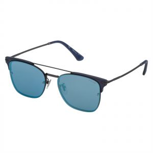 bc80b6d8b01a9 Police Square Sunglasses for Men - Smoke Mirror Blue Lens
