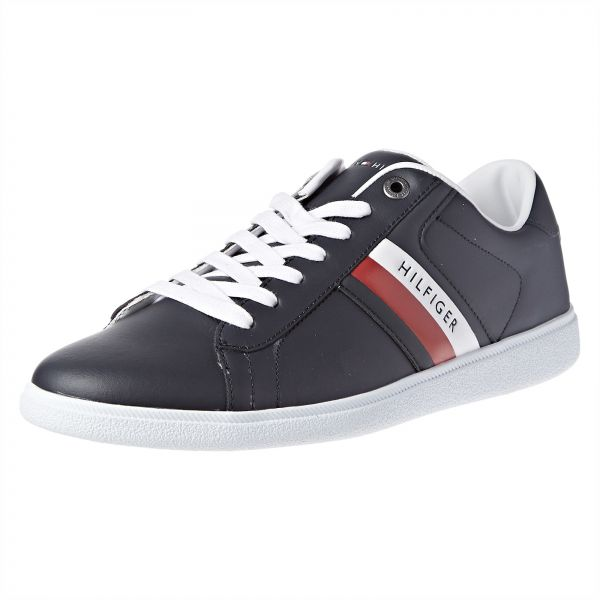 e53dc71a939a Tommy Hilfiger Core Corporate Leather Fashion Sneakers for Men - 46 ...