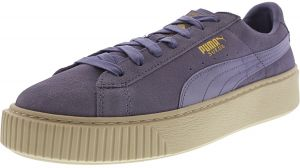0543ae030e5 Puma Women s Suede Platform Mono Satin Sweet Lavender   Whisper White Gold  Ankle-High Fashion Sneaker - 10M