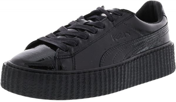 d412e35ba04915 Puma Women s Creeper Wrinkled Patent Black   Ankle-High Leather ...