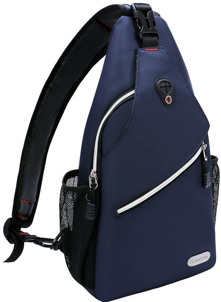 e7195d741bb Mosiso Sling Backpack, Polyester Water Repellent Durable Chest Shoulder  Unbalance Gym Fanny Lightweight Crossbody Sack Satchel Outdoor Hiking Bag  for Men ...