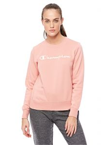 Champion 110835 Crewneck Sweatshirt for Women - Light Pink  02e958f438e