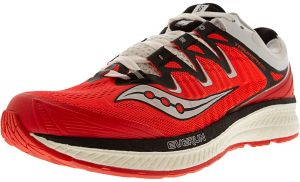 9eef74a020ba Saucony Women s Triumph Iso 4 Vizi Red   Black White Ankle-High Mesh ...