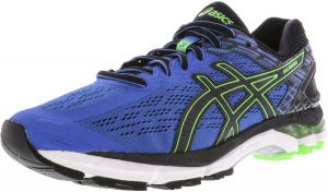 cc3a76db19bc2f Asics Men s Gel-Pursue 3 Classic Blue   Black Green Gecko Ankle-High Fabric Running  Shoe - 12M