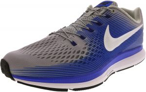 dbc49b57eda Nike Men s Air Zoom Pegasus 34 Flyease Wolf Grey   White - Racer Blue Ankle- High Running Shoe 11.5M