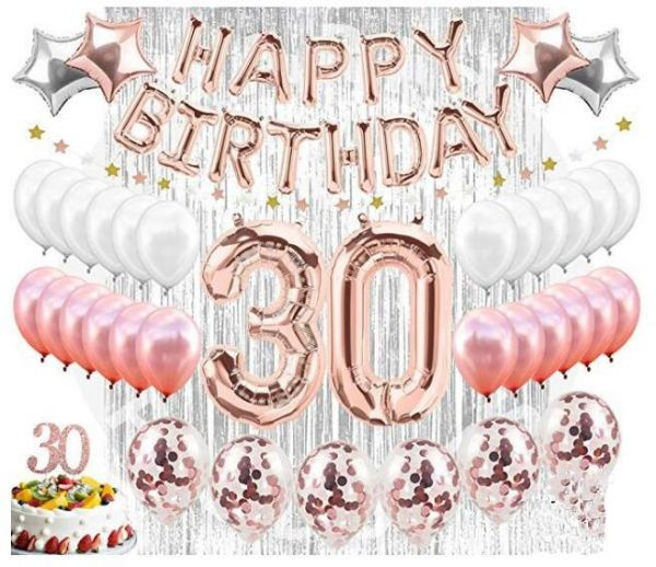 30th Birthday Decorations Set Party Supplies