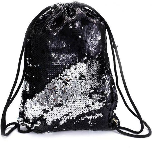 Mermaid Sequin Backpack Glittering Shoulder Bling Bags Reversible ... 35a539e2a03e