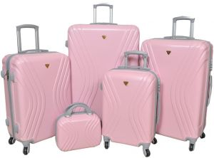 New Travel Luggage Trolley Bag for Unisex - pink 391d4c7dd7ace