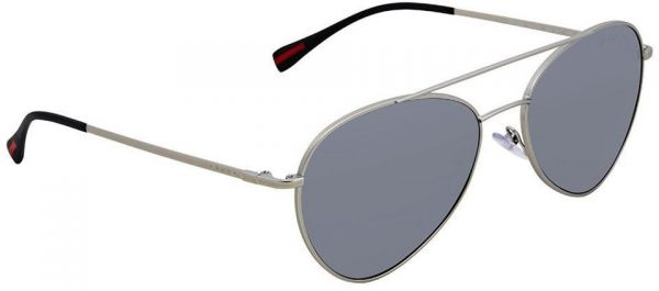 b610d0f5da81 Prada Polarized Grey Mirror Gradient Silver 57 mm Aviator Sunglasses PS  50SS 1AP2F2 57. by Prada