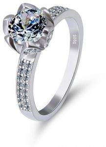 8ffca00d6 JRosee 925 Sterling Silver Promise Wedding Engagement Ring for Women Gift  Jewelry Size 16