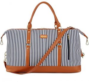 Canvas Travel Duffel Bag Tote Bags for Women Men Stripes Handbags Sport  Outdoor Bag Carry on Holdalls Weekender Leather Decoration a1bad297e216c