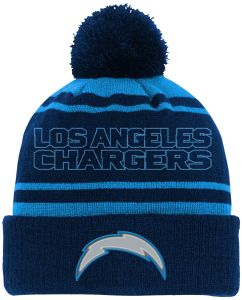 lowest price ce893 0a355 NFL Youth Boys Reflective Cuff Knit Pom Hat-Dark Navy-1 Size, Los Angeles  Chargers