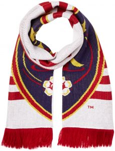 Red//Navy One Size MLS Real Salt Lake Adult Checkerboard Jacquard Scarf