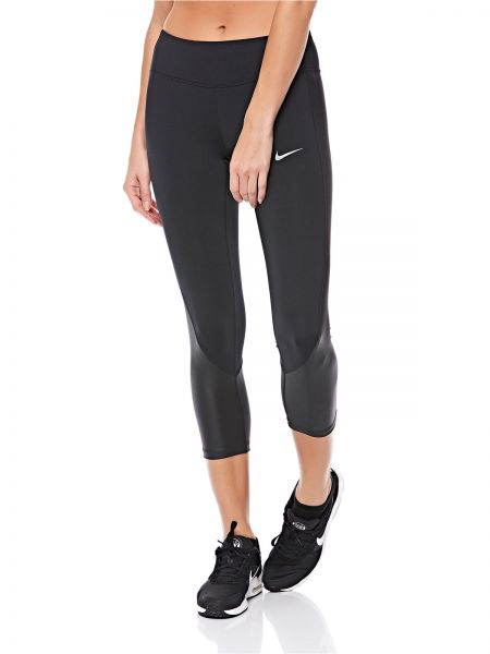 5ae79bbe1d7f2 Nike Racer Crop Lx Running Sports Tight for Women - Black (Reflective Silv)