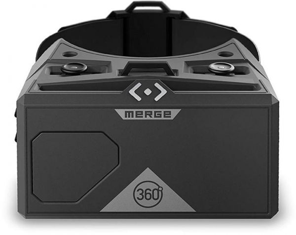 Merge AR/VR Goggles - Augmented and Virtual Reality Headset, 300 Plus Kid-Safe Experiences, Works with iPhone or Android (Moon Grey)