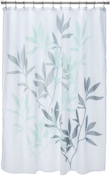 InterDesign 35603 Leaves Fabric Shower Curtain
