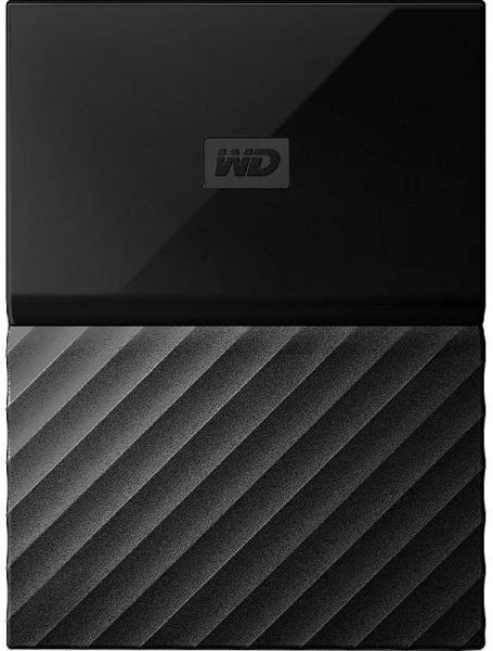 Western Digital My Passport, Portable Hard Disk Drive, 2 TB, Black