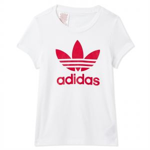 adidas Originals Trefoil Sports T-shirt for Women - White  a9db397258