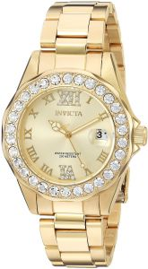 67035d48eb506 Invicta Women s 15252 Pro Diver Gold Dial Gold-Plated Stainless Steel Watch