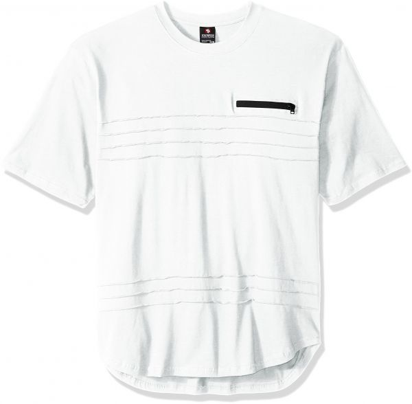 ebce9e26f9 Southpole Men s Big and Tall Short Sleeve Scallop Tee with Pin-Tuck  Details