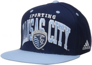 bb39894a504 adidas MLS Sporting Kansas City Men s Name Two Tone Flat Brim Snapback Hat