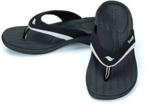bffe3958373d6 Powerstep Women s Fusion Flip-Flop Sandals - Orthotic Sandal with Built-in  Arch Support for Plantar Fasciitis and Flat Feet