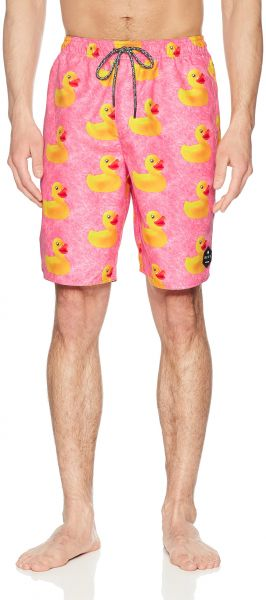 0fc4b56608 NEFF Men's Daily Hot Tub Board Shorts for Swimming, Pink Wash Ducky ...
