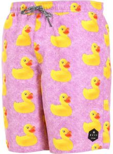 2c34cd138a1e5 NEFF Men's Daily Hot Tub Board Shorts for Swimming, Violet Wash Ducky, S
