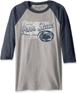 hot sales 86b92 82acc NCAA Penn State Nittany Lions Men s 3 4 Baseball Tee, Small, Heather Navy