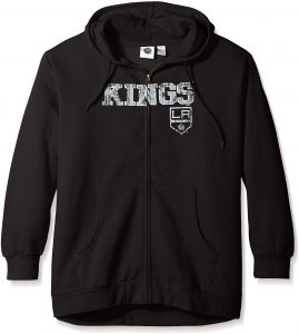 NHL Los Angeles Kings Women s Full Zip Hoodie with Distress Word Mark e7324ee62