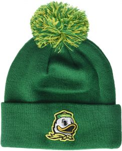 7309d9d10c1 Zephyr NCAA Oregon Ducks Adult Men Pom Knit Beanie